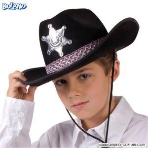 Cappello Cowboy Sceriffo Jr - Nero