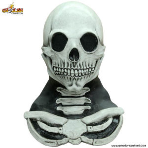 Maschera LONG NECK SKULL WHITE