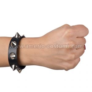 BRACCIALE PUNK ROCK IN ECOPELLE CON BORCHIE