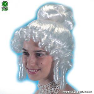 Parrucca DAMINA CON BOCCOLI - Bianca