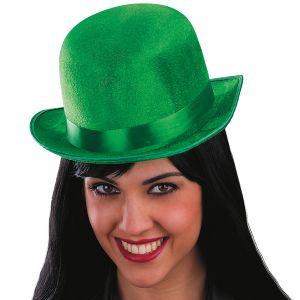 BOWLER Hat - GREEN VELVET