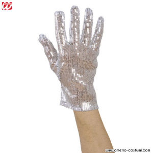 GLOVE WITH SEQUIN - SILVER