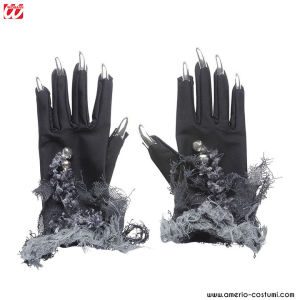 GLOVES WITH SILVER NAILS & BELLS