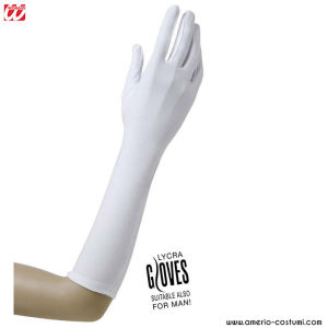 LYCRA GLOVES - 37 cm - WHITE