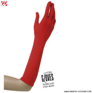 LYCRA GLOVES - 37 cm - RED