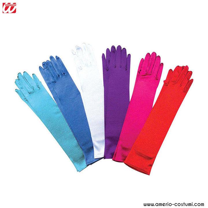 WIDMANN Satin Handschuhe 43 cm in verschiedenen Farben