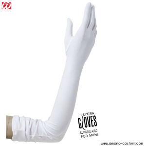 LONG LYCRA GLOVES - 60 cm - WHITE