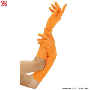 NEON LONG GLOVES - ORANGE