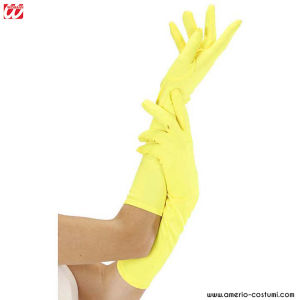 NEON LONG GLOVES - YELLOW