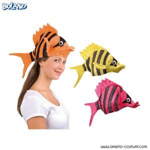 Cappello PESCE colorato - disp. 3 col.