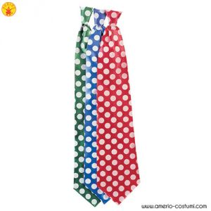 DOTTED SATIN LONG TIE