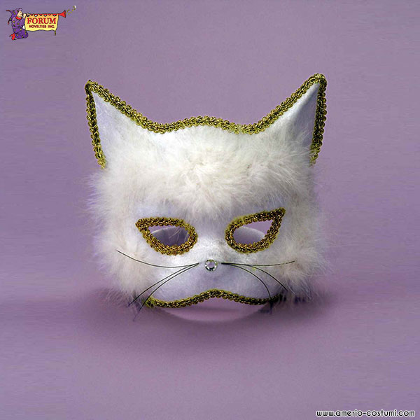 Maschera gatto bianco - Pagina colorazione maschera gatto ...