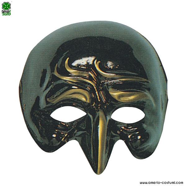 Maschera PANTALONE - NERO con ORO