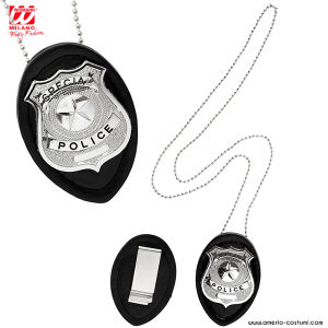 Collana DISTINTIVO POLIZIA CLIP ON