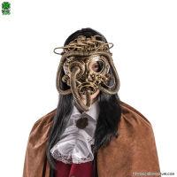 Maschera STEAMPUNK VISO INTERO ORO