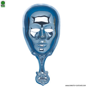 Maschera con impugnatura - ARGENTO