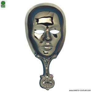 Maschera con impugnatura - ORO