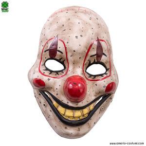 Maschera CLOWN HORROR con mandibola - Plastica