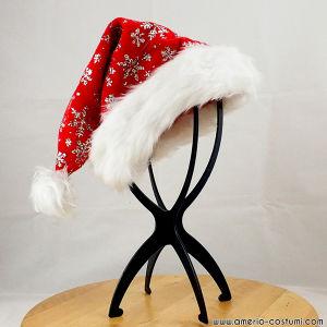 Cappello BABBO NATALE con fiocchi neve