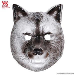 Maschera LUPO in plastica - Bambino