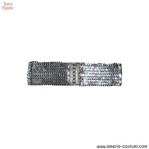 Cintura elasticizza pailettes - ARGENTO