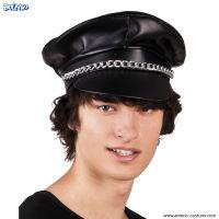Cappello BIKERS in vinile - Nero