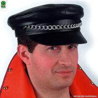 Cappello motociclista in ecopelle