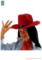Cappello TEXAS in feltro - Rosso
