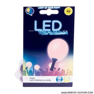 Pallone con luce LED fissa Maracaloon -  Rosa