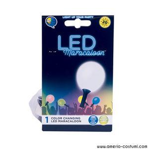 Pallone con luce LED fissa Maracaloon -  Bianco