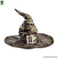 Cappello STREGA ORO in tessuto arricciato con fibbia - 42 cm