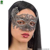 Maschera in ARGENTO IN TESSUTO MACRAME'