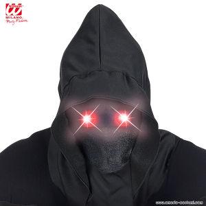 Maschera INVISIBILE con led occhi rossi