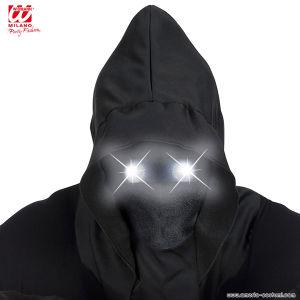 Maschera INVISIBILE con led occhi bianchi