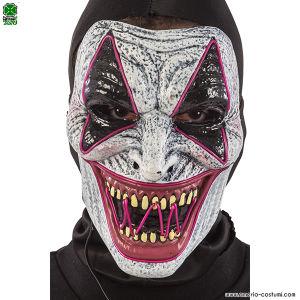 Maschera CLOWN HORROR con luci