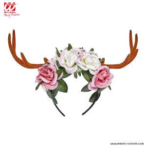 Cerchietto CERVO con fiori