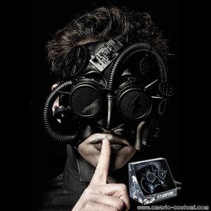 Maschera BLACK CYBORG