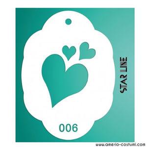 Stencil - 006 HEARTS