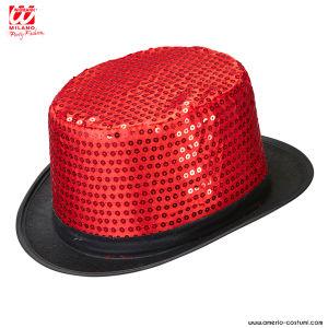 Cilindro in pailettes - Rosso