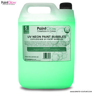 UV NEON PAINT BUBBLES 5 lt - GREEN