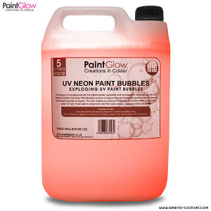UV NEON PAINT BUBBLES 5 lt - ORANGE