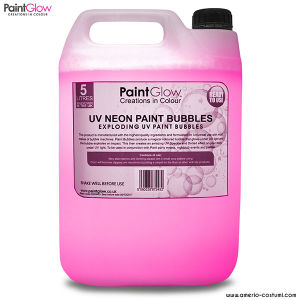 UV NEON PAINT BUBBLES 5 lt - PINK