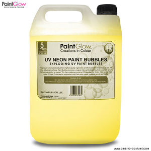 UV NEON PAINT BUBBLES 5 lt - YELLOW