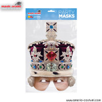 Maschera Celebrity - Queen Crown Half