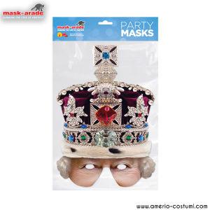 Maschera Celebrity - Queen Crown Half