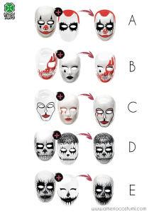 Maschera WHO ARE YOU - disp. div. mod.