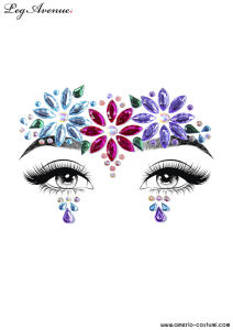 Face Jewels Sticker - DAHLIA