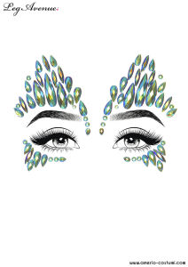 Face Jewels Sticker - SKY