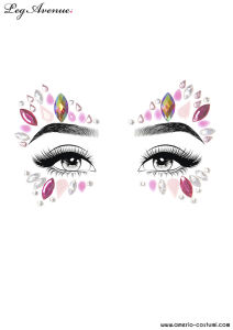 Face Jewels Sticker - ZINNIA