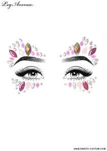 Face Jewels Sticker - ZINNIA